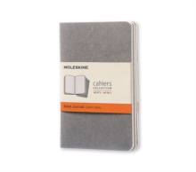 Moleskine Pebble Grey Ruled Cahier Pocket Journal (3 Set), Diary Book