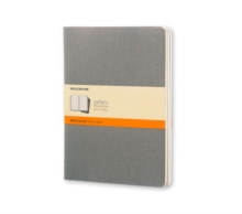 Moleskine Pebble Grey Ruled Cahier Extra Large Journal (3 Set), Diary Book