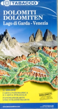 Dolomites / Lake Garda / Venice Road and Panoramic Map : Tab.Mb.02, Sheet map, folded Book