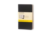 Moleskine Squared Cahier - Black Cover (3 Set), Multiple copy pack Book