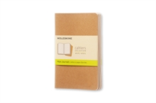 Moleskine Plain Cahier - Kraft Cover (3 Set), Multiple copy pack Book