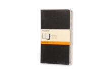 Moleskine Ruled Cahier L - Black Cover (3 Set), Multiple copy pack Book