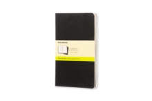 Moleskine Plain Cahier L - Black Cover (3 Set), Multiple copy pack Book