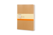 Moleskine Ruled Cahier Xl - Kraft Cover (3 Set), Multiple copy pack Book