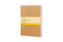 Moleskine Squared Cahier Xl - Kraft Cover (3 Set), Multiple copy pack Book