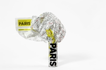 Paris Crumpled City Map, Sheet map Book