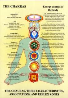 Chakras : Their Characteristics, Associations and Reflexzones, Poster Book