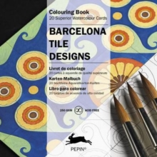 Barcelona Tile Designs : Colouring Card Book, Paperback Book