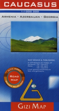 Caucasus Road Map Armenia Azerbaijan Georgia, Sheet map, folded Book