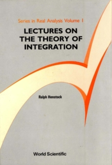 Lectures On The Theory Of Integration, PDF eBook