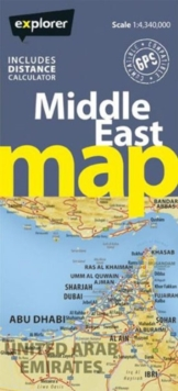 Middle East Road Map, Sheet map, folded Book
