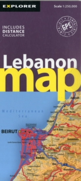 Lebanon Road Map, Sheet map, folded Book