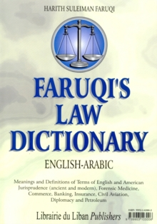 Faruqi's English-Arabic Law Dictionary, Hardback Book