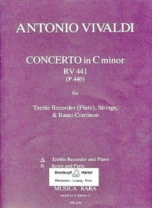 FLUTE CONCERTO IN C MINOR RV 441 RV 441,  Book