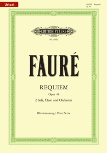 REQUIEM OP48 VOCAL SCORE,  Book