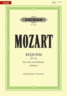 REQUIEM K626 VOCAL SCORE URTEXT,  Book