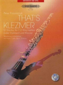 THATS KLEZMER FOR CLARINETS PIANO,  Book