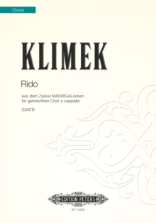 RIDO FROM MADRIGALISMEN SATB, Paperback Book