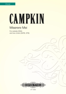 MISERERE MEI MIXED VOICE CHOIR, Paperback Book