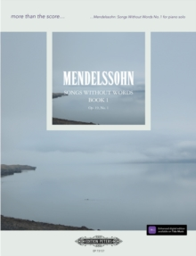 MENDELSSOHN SONGS WITHOUT WORDS NO 1, Paperback Book