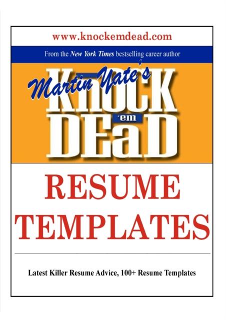 Knock 'em Dead Resumes PDF Free Download